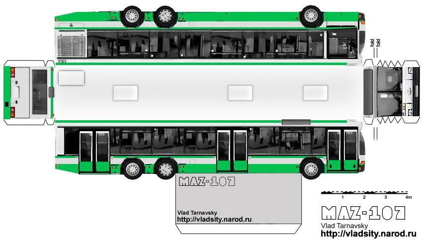 Автобус из бумаги поделка